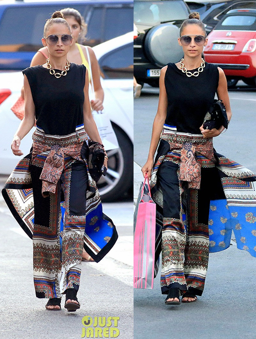 nicole-richie-in-sari-skirt